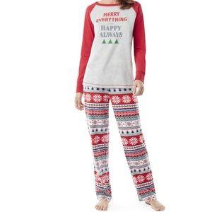 Women's Large Holiday Pajama Set